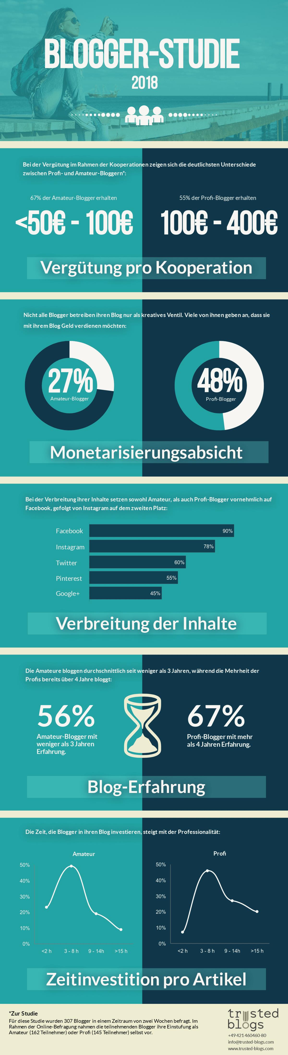 Infografik Blogger-Studie
