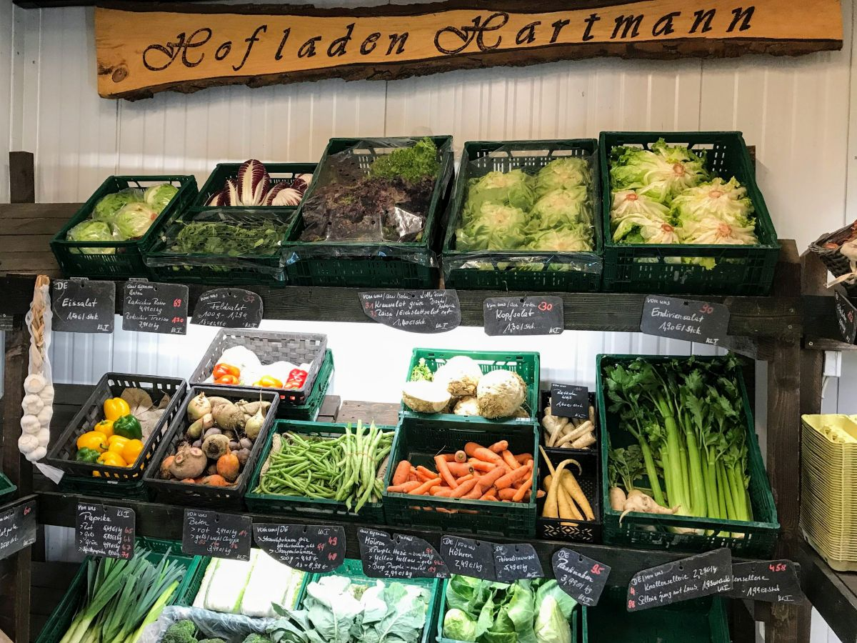 Gemüseauslage