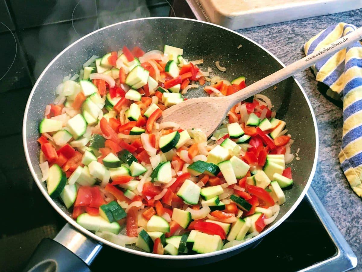 Paprika-Zucchini-Pfanne