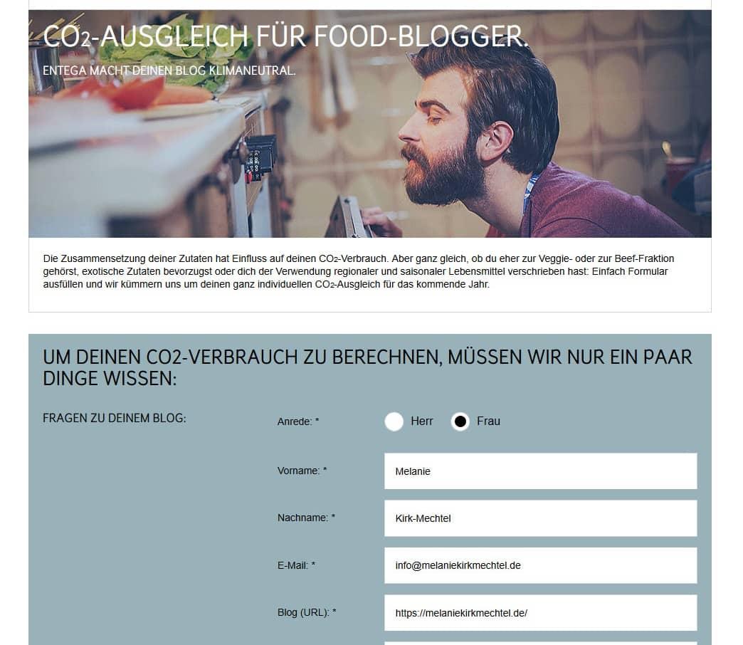 CO2-Ausgleich Foodblog