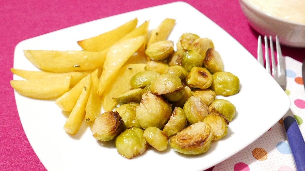 Beitragsbild Rosenkohl und Kartoffeln aus dem Ofen
