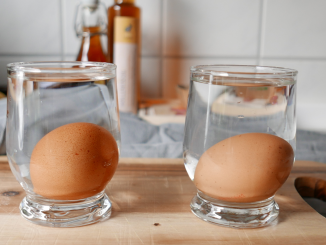 Schwimmtest für Eier