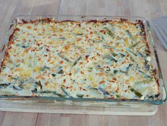 Spargel-Kartoffel-Auflauf mit zweierlei Käse