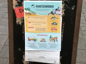 Passantenstopper Marktschwärmerei