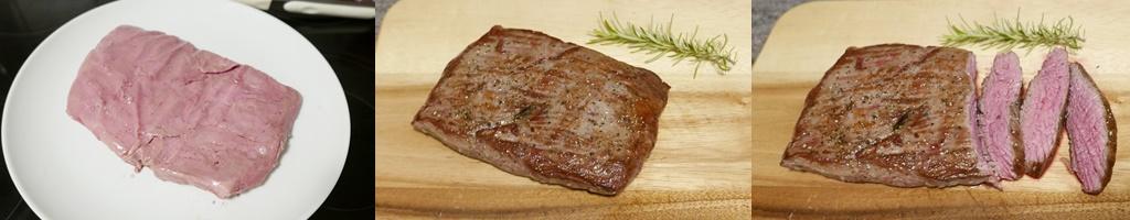 Flank Steak, sous-vide gegart